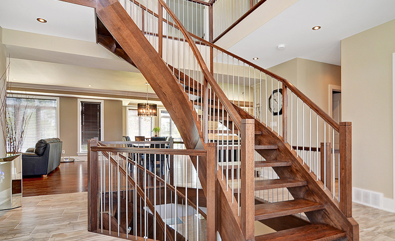 Wood Staircase Picture